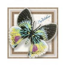 BGP-053 3D Бабочка Альцидес аврора. Vdohnovenie. Наборы для вышивания бисером.