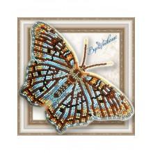 BGP-058 3D Бабочка Белый павлин. Vdohnovenie. Наборы для вышивания бисером.