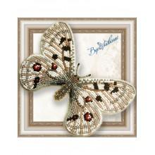 BGP-059 3D Бабочка Аполлон обыкновенный. Vdohnovenie. Наборы для вышивания бисером.
