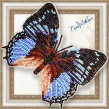 BGP-062 3D Бабочка Харакс Смарагдалис. Vdohnovenie. Наборы для вышивания бисером.