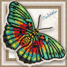 BGP-063 3D Бабочка Еuphaedra edwardsi. Vdohnovenie. Наборы для вышивания бисером.