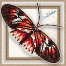 BGP-064 3D Бабочка Геликония Фортепиано. Vdohnovenie. Наборы для вышивания бисером.