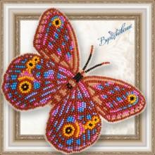 BGP-067 3D Бабочка Euptychia Agatha. Vdohnovenie. Наборы для вышивания бисером.