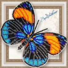 BGP-069 3D Бабочка Калликора сапфирная. Vdohnovenie. Наборы для вышивания бисером.