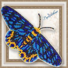 BGP-070 3D Бабочка Dysphania numana. Vdohnovenie. Наборы для вышивания бисером.